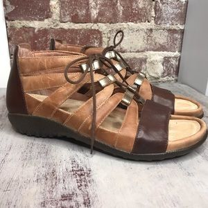Naot Leather Sandals Size 8 gladiator style